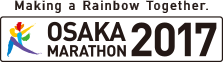 Making a Rainbow Together.The official Marathon 2017 Osaka.